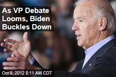 As VP Debate Approaches, Biden Gets Serious