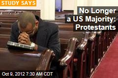 No Longer a US Majority: Protestants