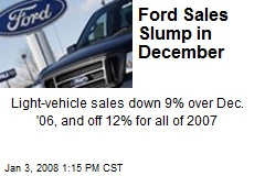 Ford Sales Slump in December
