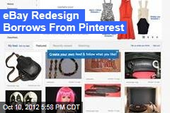 eBay Redesign Borrows From Pinterest
