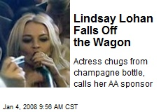 Lindsay Lohan Falls Off the Wagon