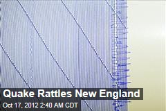 Quake Rattles US Northeast