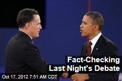 Fact-Checking Last Night's Debate