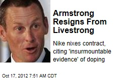 Armstrong Resigns From Livestrong