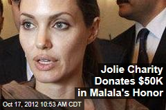Jolie Charity Donates $50K in Malala's Honor