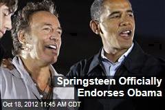 Springsteen Officially Endorses Obama