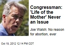 Congressman: 'Life of the Mother' Never an Issue