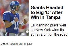Giants Headed to Big 'D' After Win in Tampa