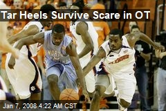 Tar Heels Survive Scare in OT