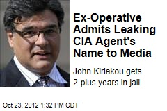 Ex-Operative Admits Leaking CIA Agent's Name to Media