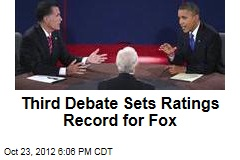 Third Debate Sets Ratings Record for Fox