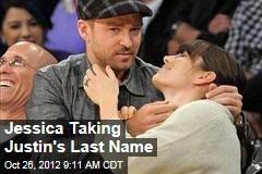 Jessica Taking Justin's Last Name