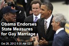 Obama Endorses State Measures for Gay Marriage