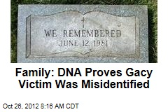 Family: DNA Proves Gacy Victim Was Misidentified