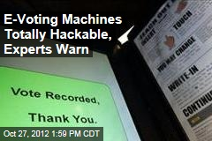 E-Voting Machines Totally Hackable, Experts Warn