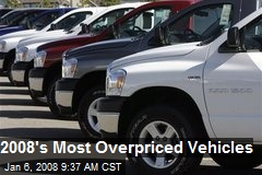 2008's Most Overpriced Vehicles