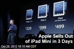 Apple Sells Out of iPad Mini in 3 Days