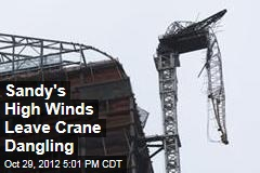 High Winds Leave Crane Dangling in NYC