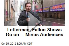 Letterman, Fallon Shows Go On ... Minus Audiences