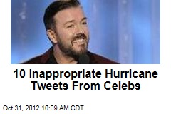 10 Inappropriate Hurricane Tweets From Celebs