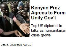 Kenyan Prez Agrees to Form Unity Gov't