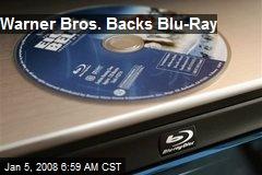 Warner Bros. Backs Blu-Ray