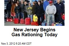 New Jersey Begins Gas Rationing Today