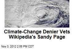 Why Climate Change Stayed Off Sandy's Wikipedia Page