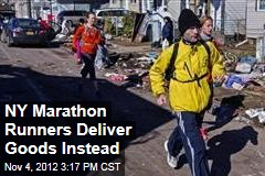 NY Marathon Runners Deliver Goods Instead