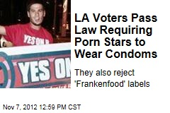 LA Voters Pass Law Requiring Porn Stars to Wear Condoms