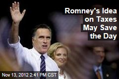 Romney's Idea on Taxes May Save the Day
