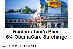 Restauranteur's Plan: 5% ObamaCare Surcharge