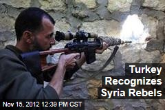 Turkey Recognizes Syria Rebels