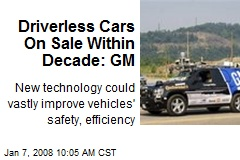 Driverless Cars On Sale Within Decade: GM
