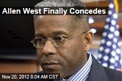 Allen West Finally Concedes