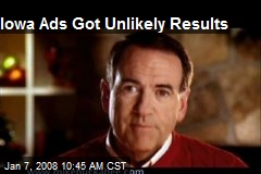 Iowa Ads Got Unlikely Results