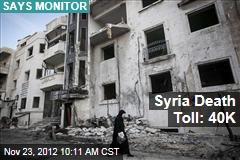 Syria Death Toll: 40K