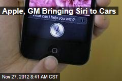 Apple, GM Bringing Siri to Cars