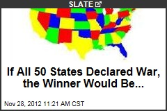 If All 50 States Declared War, the Winner Would Be...