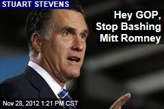 Hey GOP, Stop Bashing Mitt Romney