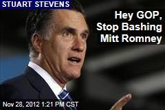 Hey GOP, Stop Bashing Mitt Romney