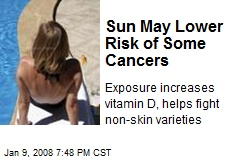 Sun May Lower Risk of Some Cancers