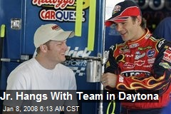 Jr. Hangs With Team in Daytona