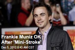 Frankie Muniz OK After 'Mini-Stroke'