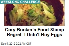 Cory Booker's Food Stamp Regret: I Didn't Buy Eggs