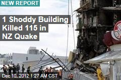 Shoddy Design Blamed for NZ Quake Deaths