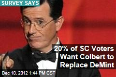 20% of SC Voters Want Colbert to Replace DeMint