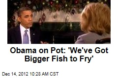 Obama on Pot: 'We've Got Bigger Fish to Fry'