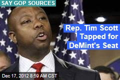 Rep. Tim Scott Tapped for DeMint's Seat