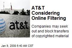 AT&T Considering Online Filtering